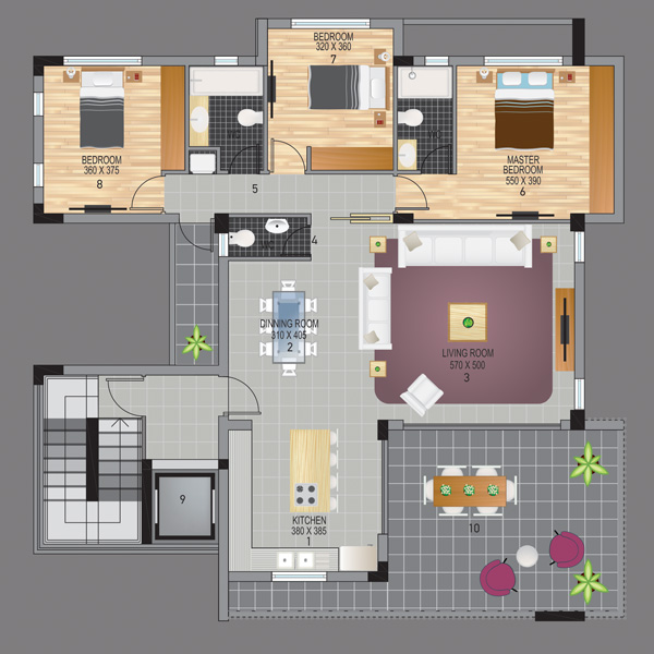 Crystal Residence Plan 201
